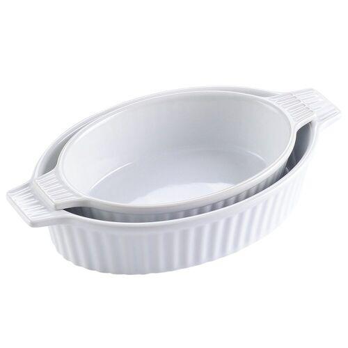 MALACASA Backform »Bake.Bake«, (2-tlg), mikrowellengeeignet, Weiß