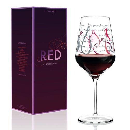 Ritzenhoff Rotweinglas »Red Design V. Romo«