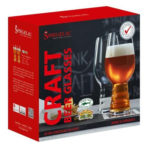 SPIEGELAU Gläser-Set »Craft Beer Glasses IPA 2er Set 540 ml«, Kristallglas