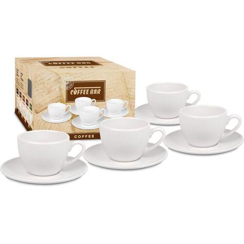 Könitz Tasse »Coffee Bar« (8-tlg), Porzellan, (4 Tassen mit Untertasse)