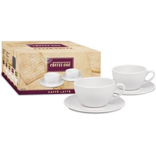 Könitz Latte-Macchiato-Tasse »Coffee Bar« (4-tlg), (2 Tassen, 2 Untertassen)