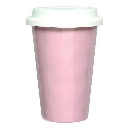 Q Squared NYC Coffee-to-go-Becher »Melamin« (2-tlg), Melamin, 300 ml, rosa-weiß