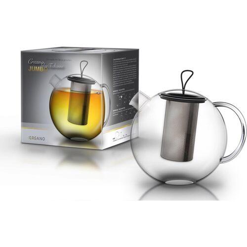 Creano Teekanne »JUMBO«, 2 l, Borosilikatglas, 2 Liter Inhalt