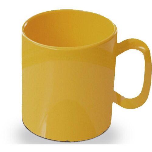 WACA Becher (4-tlg), 325 ml, Kunststoff, gelb