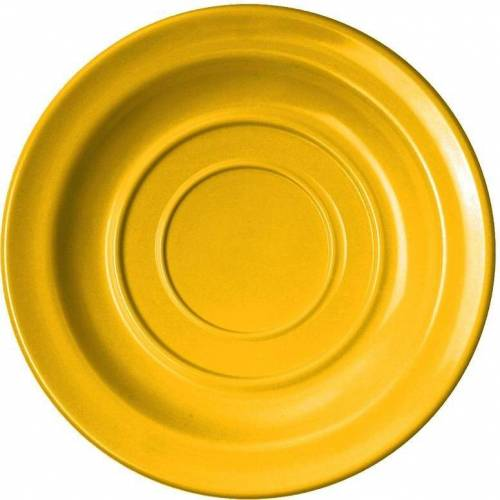 WACA Untertasse, (4 Stück), Melamin, 14 cm, gelb
