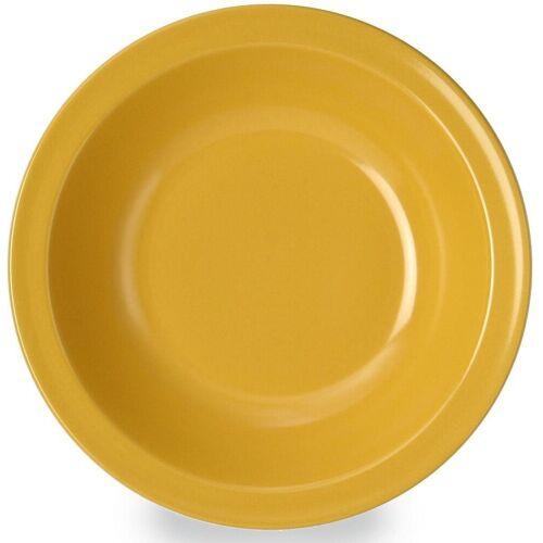 WACA Suppenteller, (4 Stück), Melamin, gelb