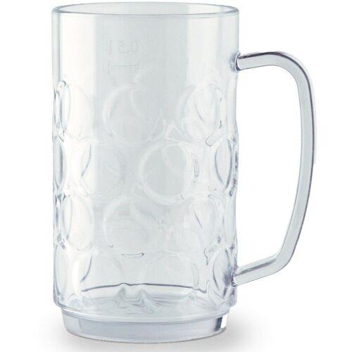 WACA Bierkrug (4-tlg), Kunststoff, 0,5 Liter