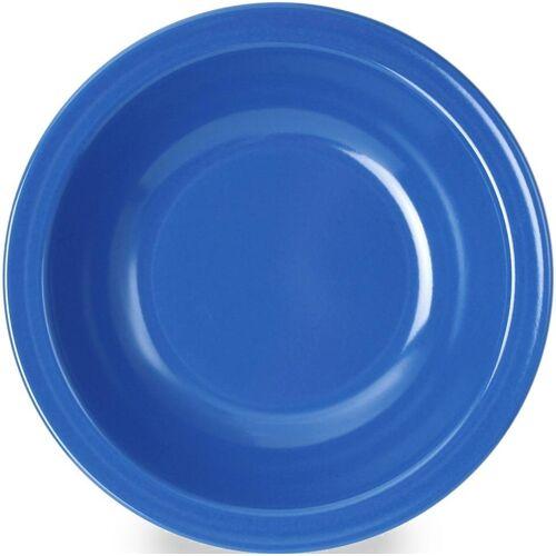 WACA Suppenteller, (4 Stück), Melamin, blau