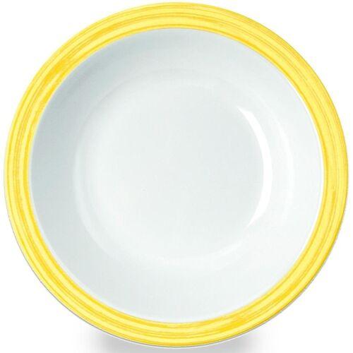 WACA Suppenteller »Bistro«, (4 Stück), Melamin, 20,5 cm, gelb