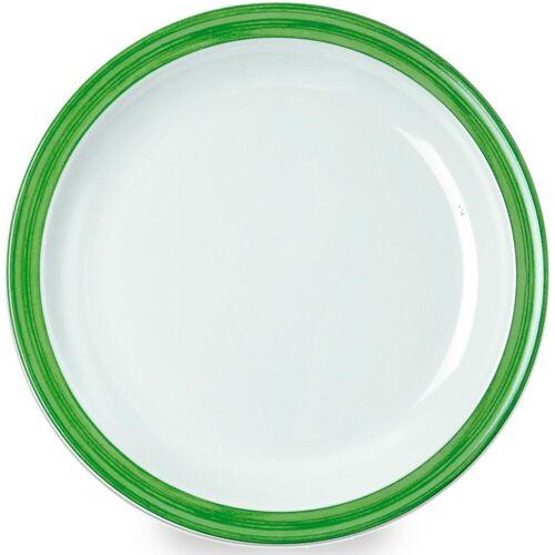 WACA Teller »Bistro«, (4 Stück), Melamin, 23,5 cm, grün