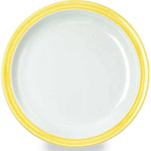 WACA Teller »Bistro«, (4 Stück), Melamin, 23,5 cm, gelb