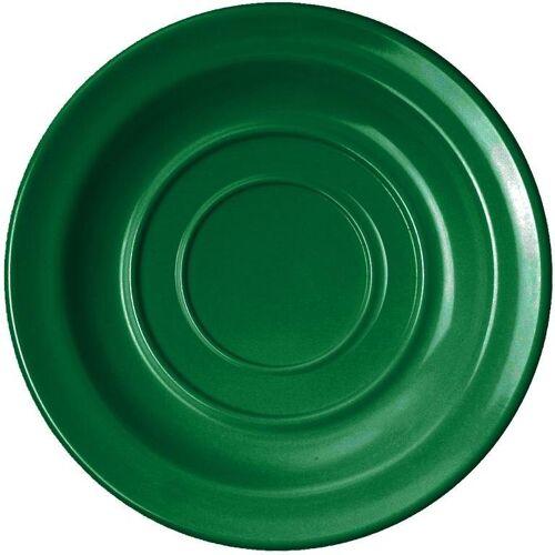 WACA Untertasse, (4 Stück), Melamin, 14 cm, grün