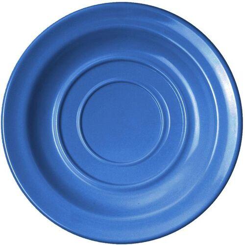 WACA Untertasse, (4 Stück), Melamin, 14 cm, blau