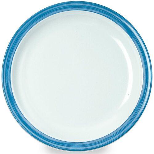 WACA Teller »Bistro«, (4 Stück), Melamin, 23,5 cm, blau