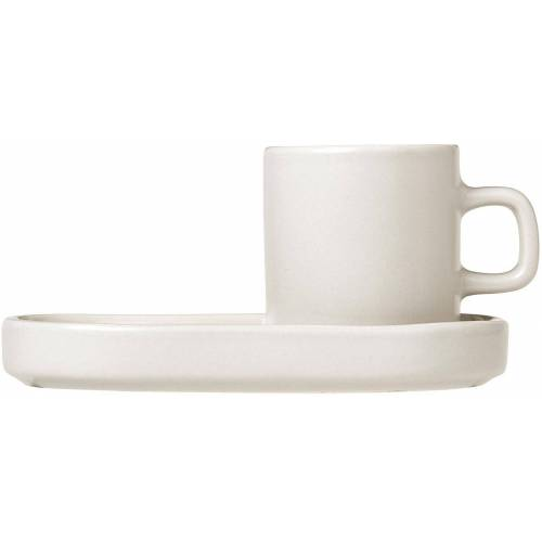 BLOMUS Espressotasse »PILAR« (4-tlg), inkl. Untertassen, naturweiß