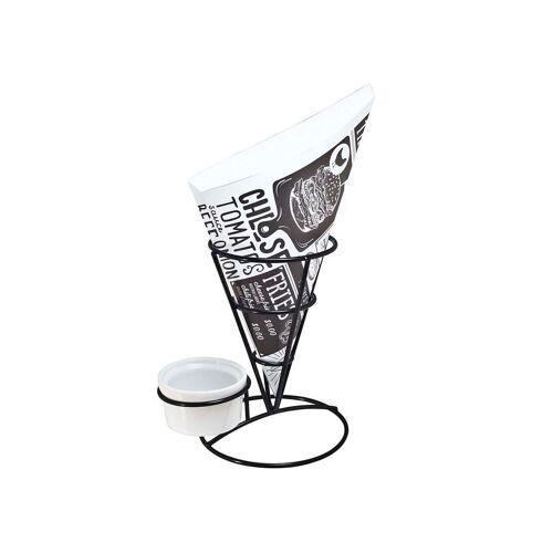 HTI-Living Pommestütenhalter, Schwarz