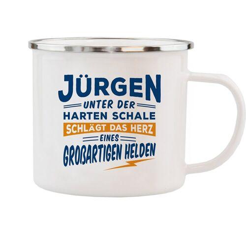 HTI-Living Becher »Echter Kerl Emaille Becher Jürgen«