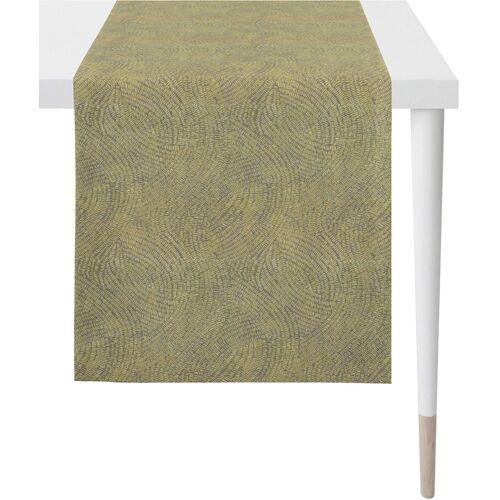Apelt Tischläufer »1102 Loft Style, Jacquard« (1-tlg), hellgrün-grau
