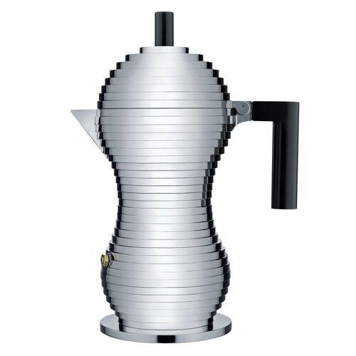 Alessi Espressokocher Espressokocher PULCINA 30 cl, schwarz, 0.3l Kaffeekanne