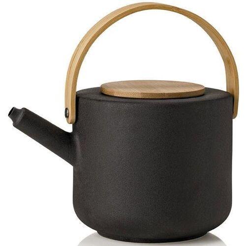 Stelton Teekanne »Theo«, 1,25 l, Steinzeug mit Bambus-Deckel