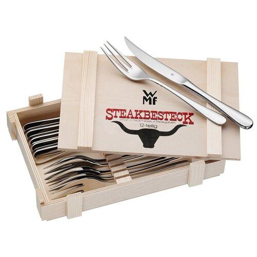 WMF Steakbesteck »Steakbesteck Set in Holzkassette 12tlg. 12.802«