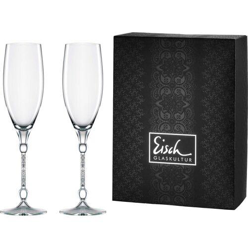 Eisch Champagnerglas »10 Carat« (2-tlg), handgefertigtes, bleifreies Kristallglas, 280 ml