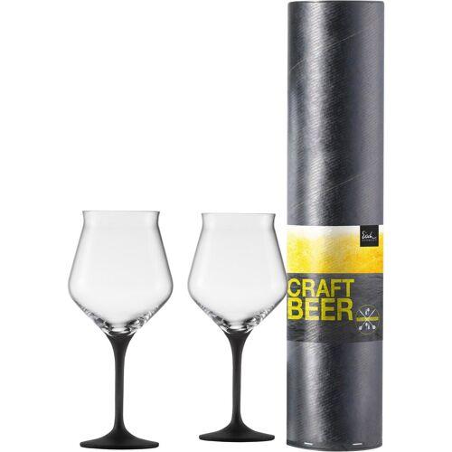 Eisch Bierglas »Craft Beer Kelch« (2-tlg), bleifreies Kristallglas, 435 ml