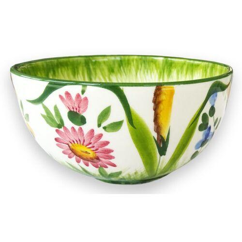 Lashuma Müslischale »Blumenwiese«, Keramik, (Packung, 1-tlg), Runde Keramik Schale, Servierschüssel Ø 13 cm