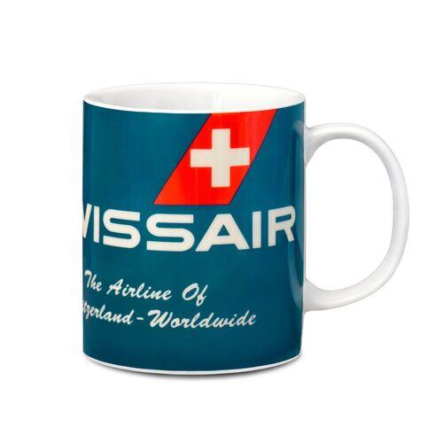 LOGOSHIRT Tasse in coolen Design »Swissair«, rot