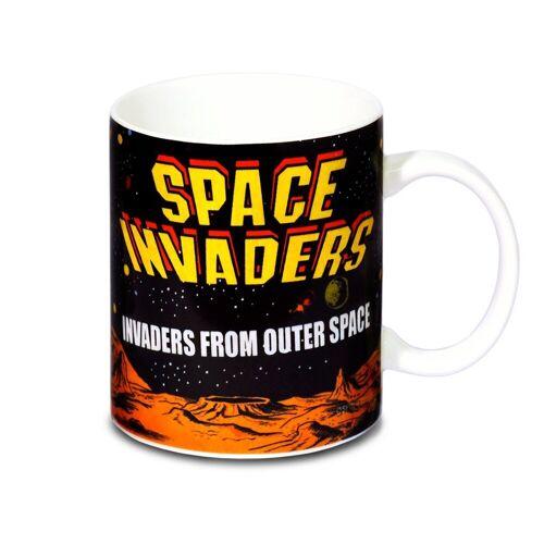 LOGOSHIRT Tasse mit tollem Retro-Print »Retro Game - Space Invaders«, schwarz