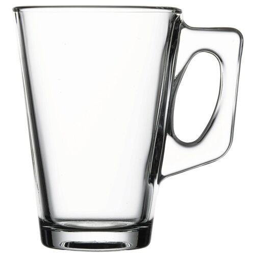 Pasabahce Teeglas »Glastassen Set für Tee oder Kaffee« (2-tlg), Glas, formschön & stabil