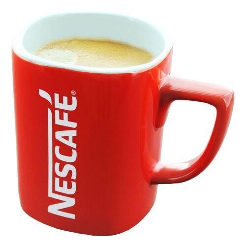 NESCAFE Becher »Kaffeebecher mit Henkel, rot, 275 ml«