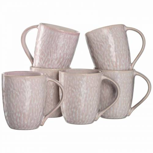 LEONARDO Becher »MATERA Keramikbecher 330 ml rosa 6er Set« (6-tlg)