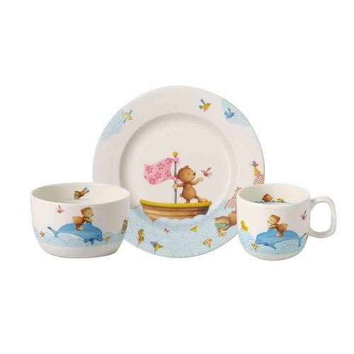 Villeroy & Boch Kindergeschirr-Set »HAPPY AS A BEAR Kindergeschirrset 3-tlg« (3-tlg), Porzellan