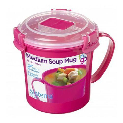 sistema Tasse »Mikrowellen Suppentasse To Go, pink«