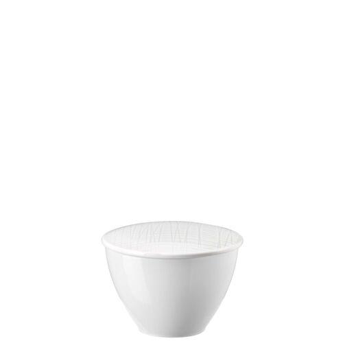 Rosenthal Zuckerdose »Mesh Weiß Zuckerdose«, Porzellan, (2-tlg)