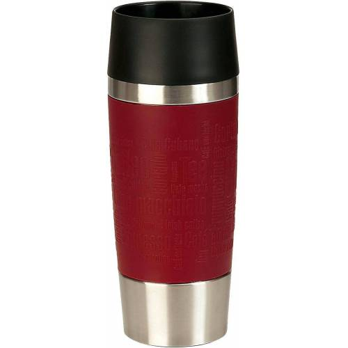 "Emsa Tasse »Isolierbecher ""Travel Mug"", 0,36 L«, rot"