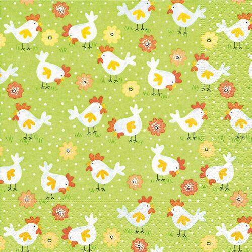 Paper+Design Papierserviette »Hühnerfarm«, (20 St), 33 cm x 33 cm