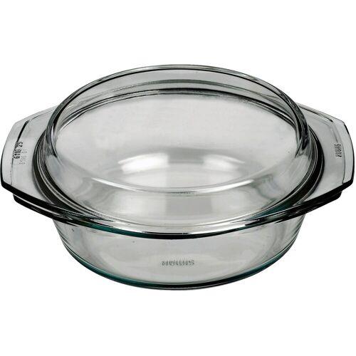 BOHEMIA SELECTION Auflaufform »feuerfeste Glas Schüssel mit Deckel, bis 300°C, 2l«