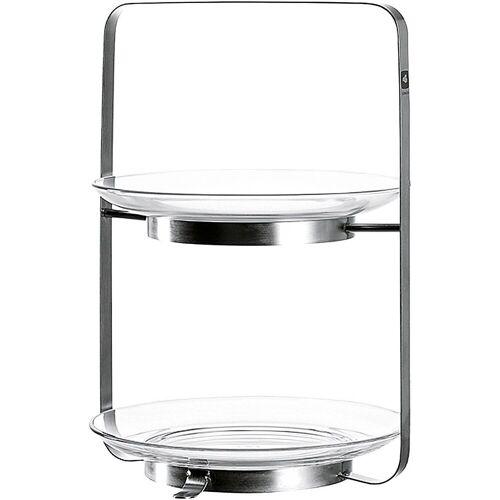 "LEONARDO Etagere »Glas/Metall Etagere ""Senso"" 2-stöckig H30,5 cm«"