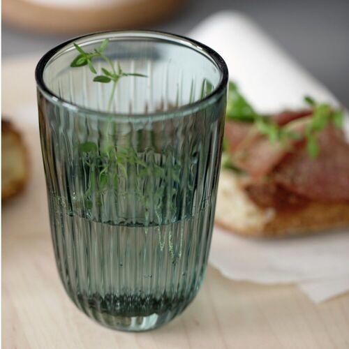 Kähler Glas Hammershøi grün 33cl, 2er-Set, grün