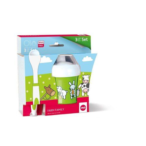 Emsa Kindergeschirr-Set »Baby - Set 3 tlg. Farm Family« (3-tlg), Kunststoff