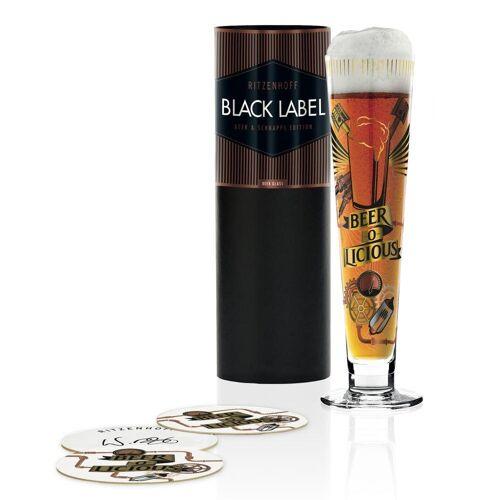 Ritzenhoff Bierglas »Black Label Werner Bohr 385 ml«