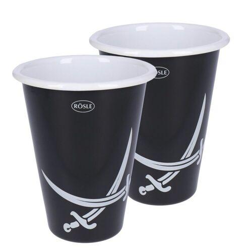 Rösle Longdrinkglas »BBQ Longdrinkbecher 2er Set emailliert«