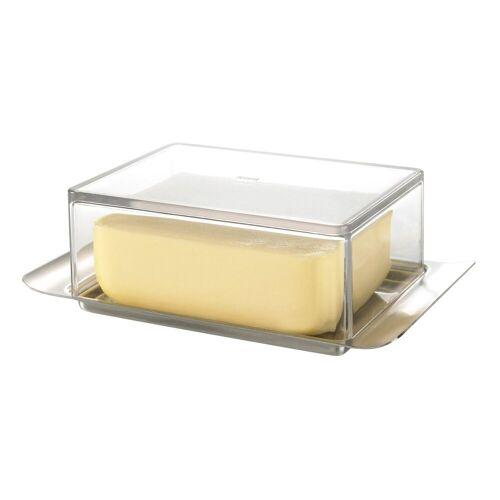 GEFU Butterdose »Butterdose BRUNCH«, Glas / Edelstahl, (1-tlg)