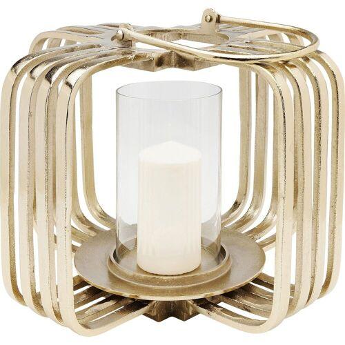 KARE Kerzenständer »Windlicht Golden Cage Klein«