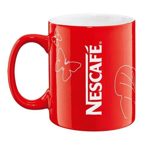 NESCAFE Becher »Kaffeebecher mit Henkel, rot, 300 ml«