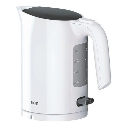 Braun Wasserkocher PurEase WK 3000 WH, 1 l, mit Schnellkochsystem und Liter-/ Tassenangabe