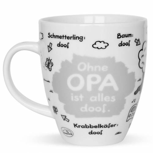 "Sheepworld Tasse »- Tasse ""Ohne ... ist alles doof"" 0,5l ODIAD Geschenk Kaffee- Tasse Motiv: Opa«, Opa"