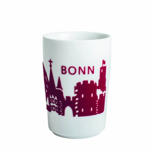 Kahla Becher »Maxi-Becher Skyline Bonn Five Senses Touch«, Rot